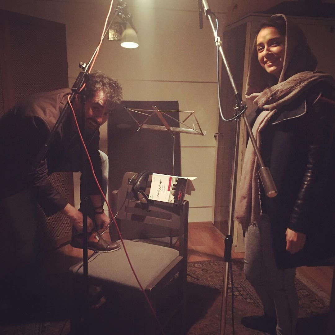 ترانه علیدوستى و شهاب حسینی در پشت صحنه «فروشنده»