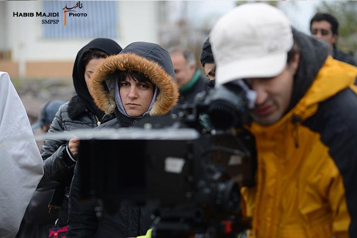 آیدا پناهنده در پشت صحنه فیلم «ناهید»