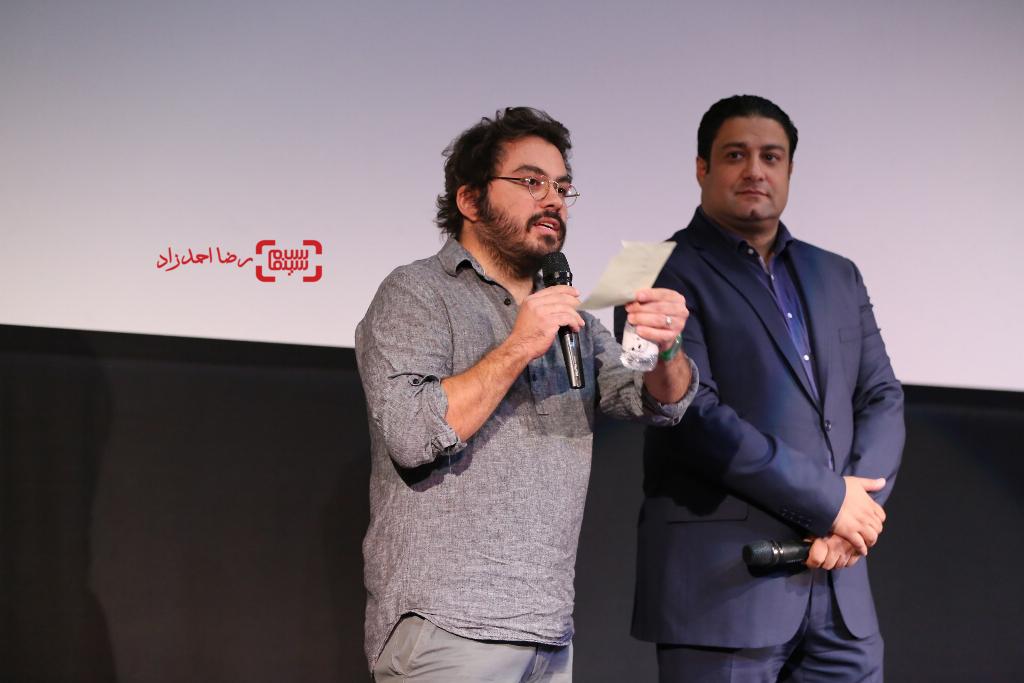 پوریا آذربایجانی و علی باذل در اکران خصوصی فیلم «اروند»