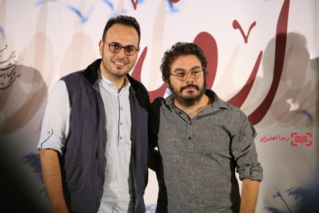 پوریا آذربایجانی و محمدحسین مهدویان در اکران خصوصی فیلم «اروند»