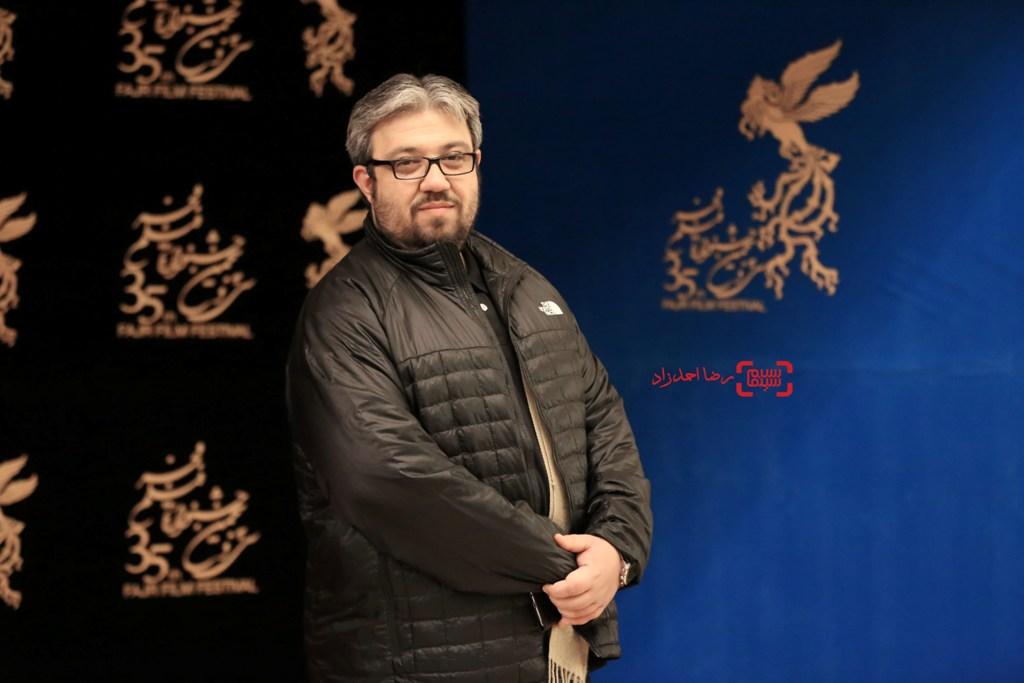 رامین ریاضی در اکران فیلم «خانه»(ائو) در جشنواره فیلم فجر35