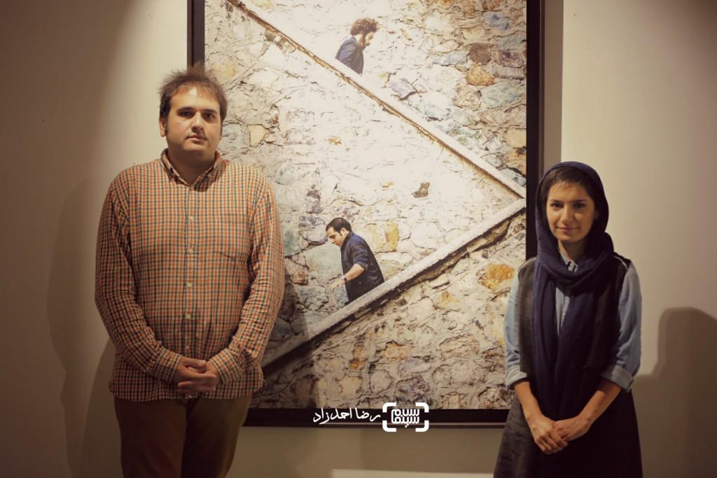 رضا درمیشیان و نوشین جعفری در نمایشگاه عکسهای فیلم «لانتوری»