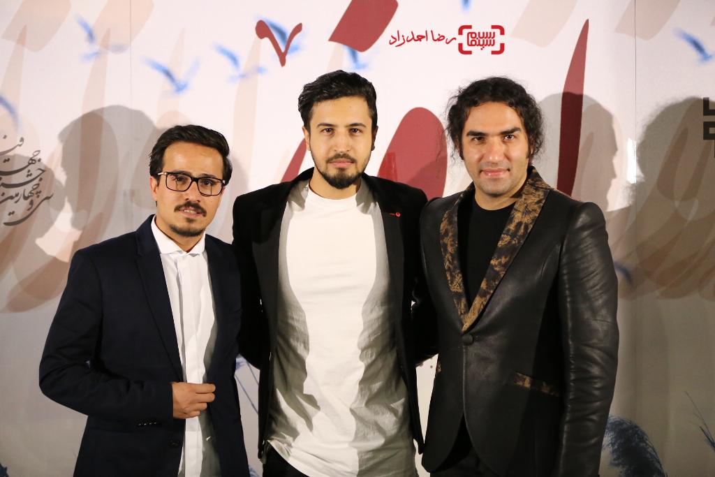 حسين سليمانى، مهرداد صديقيان و رضا یزدانی در اکران خصوصی فیلم «اروند»