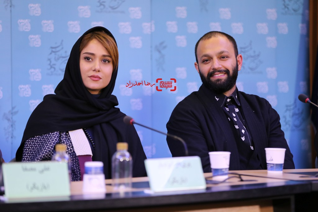 پریناز ایزدیار و صابر ابر در نشست فیلم «تابستان داغ» در سی و پنجمین جشنواره فیلم فجر