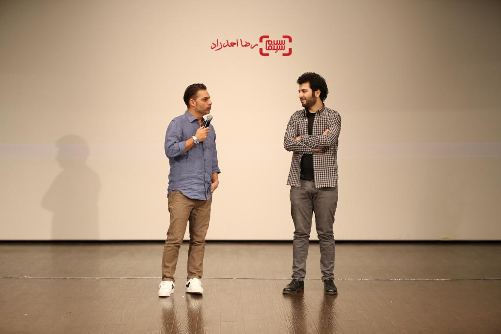 سعید روستایی و پیمان معادی در اکران عمومی فیلم «ابد و یک روز» در پردیس سینمایی کوروش
