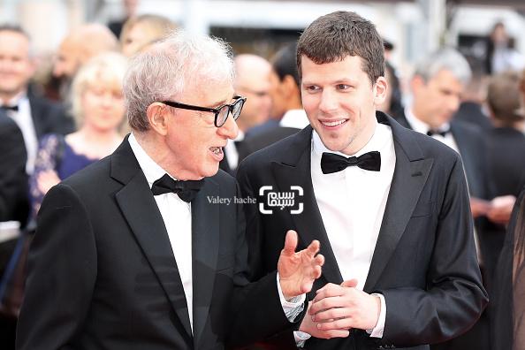 وودی آلن و جسی آیزنبرگ در نمایش فیلم «کافه سوسایتی» در افتتاحیه جشنواره فیلم کن 2016