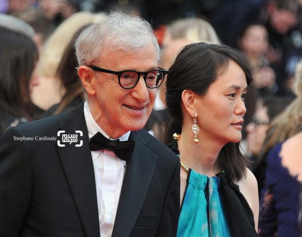 وودی آلن و همسرش در نمایش فیلم «کافه سوسایتی» در افتتاحیه جشنواره فیلم کن 2016