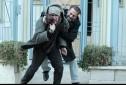 امیر آقایی و صالح میرزا آقایی در نمایی از فیلم «فصل نرگس» ساخته نگار آذربایجانی