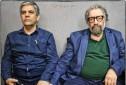 مسعود کیمیایی و منصور لشكرى قوچانى در پشت صحنه فیلم «قاتل اهلی»