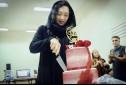 تولد نیکی کریمی در پشت صحنه فیلم «آذر»