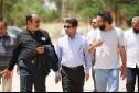 بازدید حبیب ایل بیگی و جمعی از مسئولین ارشاد خوزستان از پشت صحنه