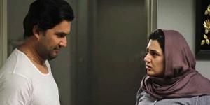 باران کوثری و حامد بهداد در نمایی از فیلم «هفت ماهگی»