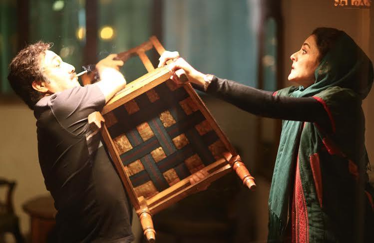 رضا عطاران و ویشکا آسایش در فیلم نهنگ عنبر