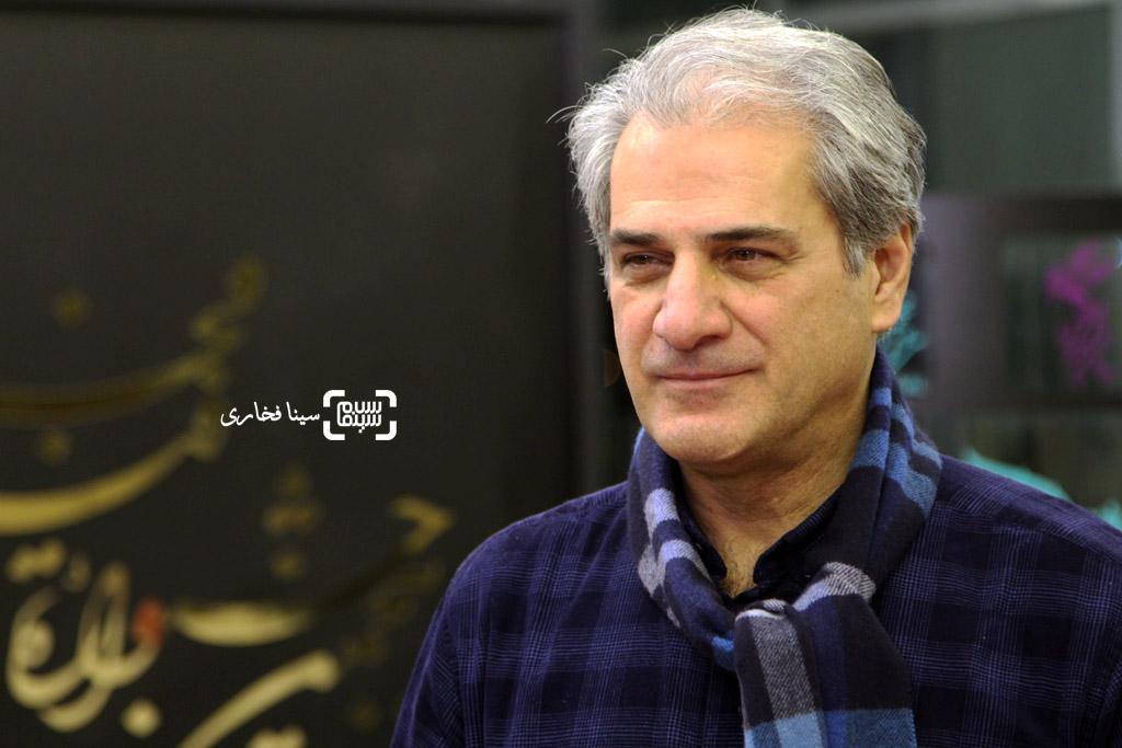 ناصر هاشمی در اکران فیلم «خانه دیگری» در سی و پنجمین جشنواره فیلم فجر
