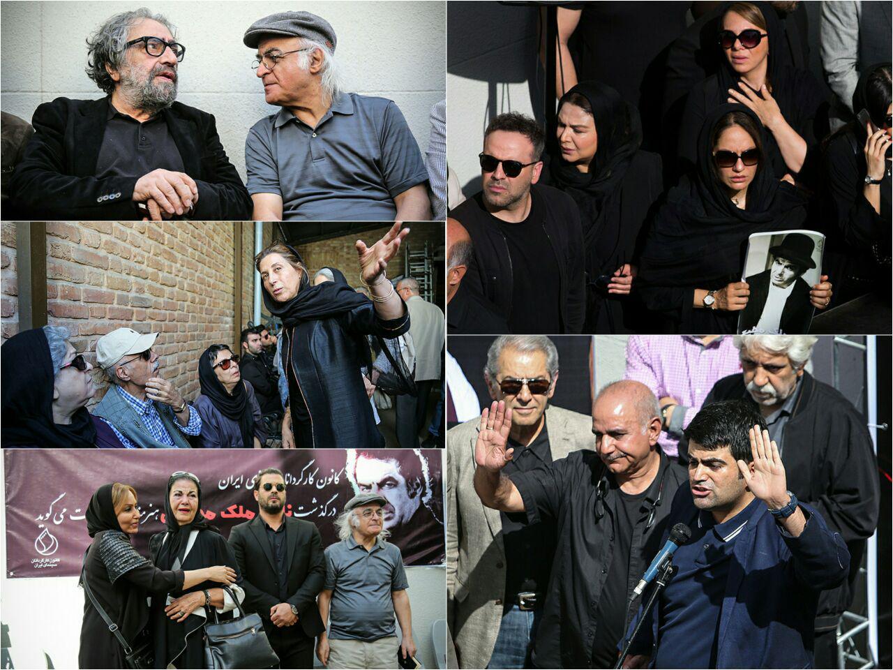 گزارش تصویری از مراسم تشییع پیکر ناصر ملک مطیعی