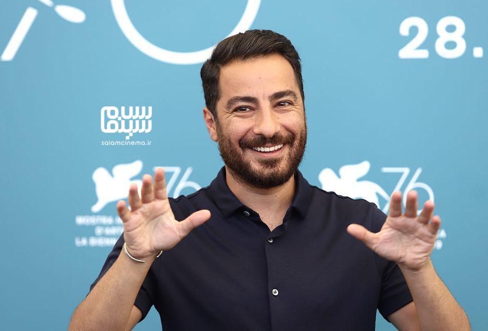عکسنوید محمدزادهدردر فتوکال «متری شیش و نیم» در جشنواره فیلم ونیز 2019
