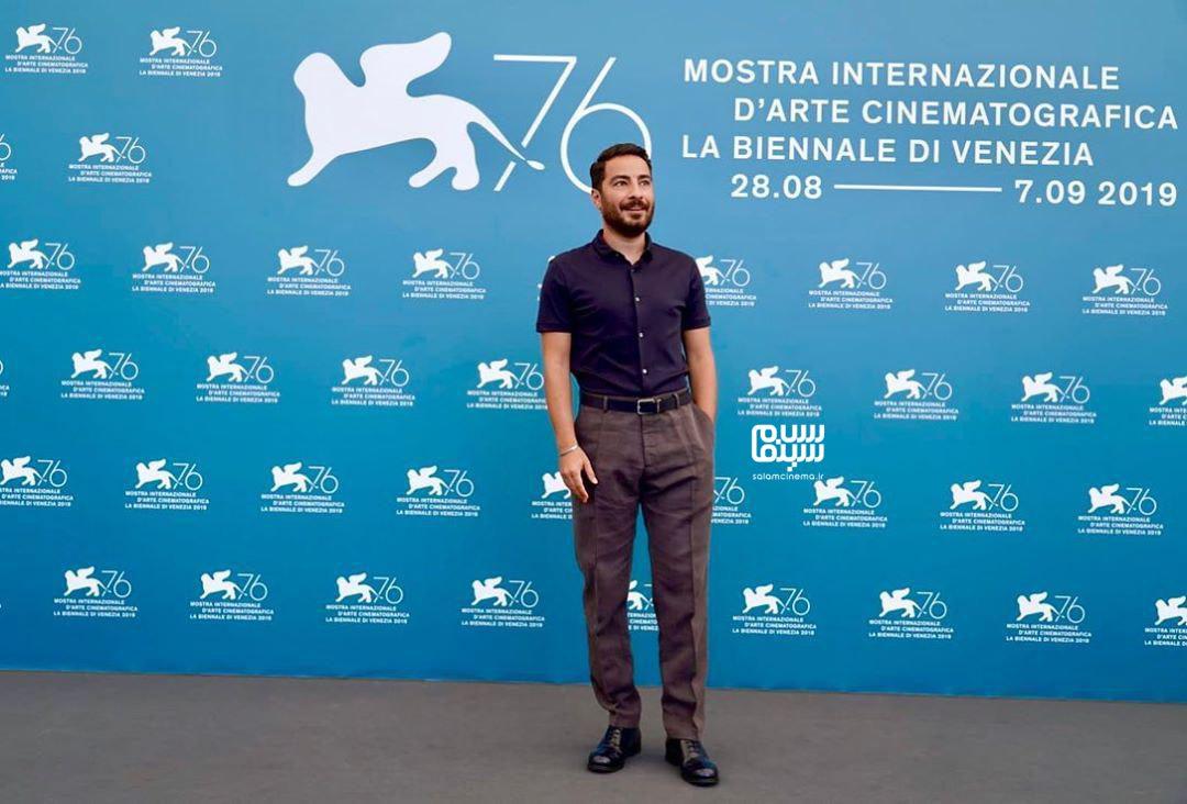 عکسنوید محمدزادهدردر فتوکال «متری شیش و نیم» در جشنواره ونیز 2019