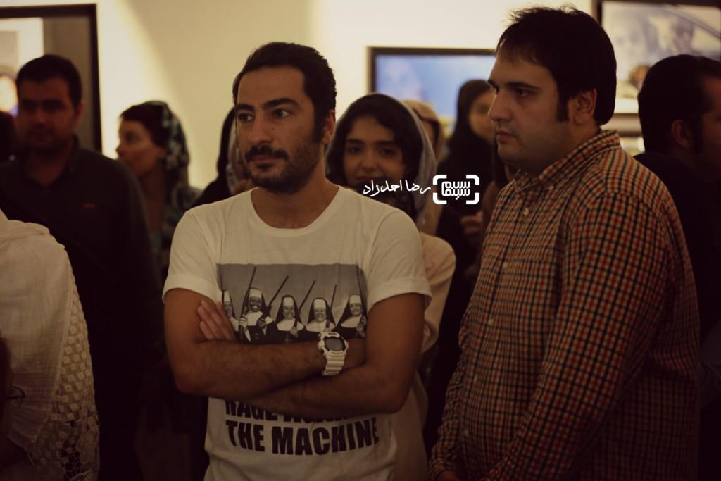 نوید محمدزاده و رضا درمیشیان در نمایشگاه عکسهای نوشین جعفری از فیلم «لانتوری»