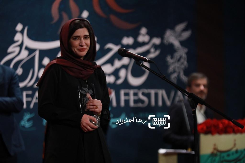نازنین احمدی - گزارش تصویری - اختتامیه جشنواره فیلم فجر 38(بخش اول)