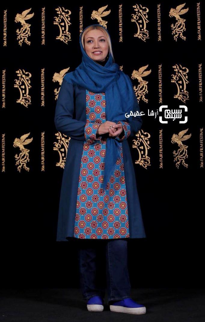 نگار عابدی در نشست خبری فیلم «دارکوب» در کاخ رسانه جشنواره فیلم فجر36
