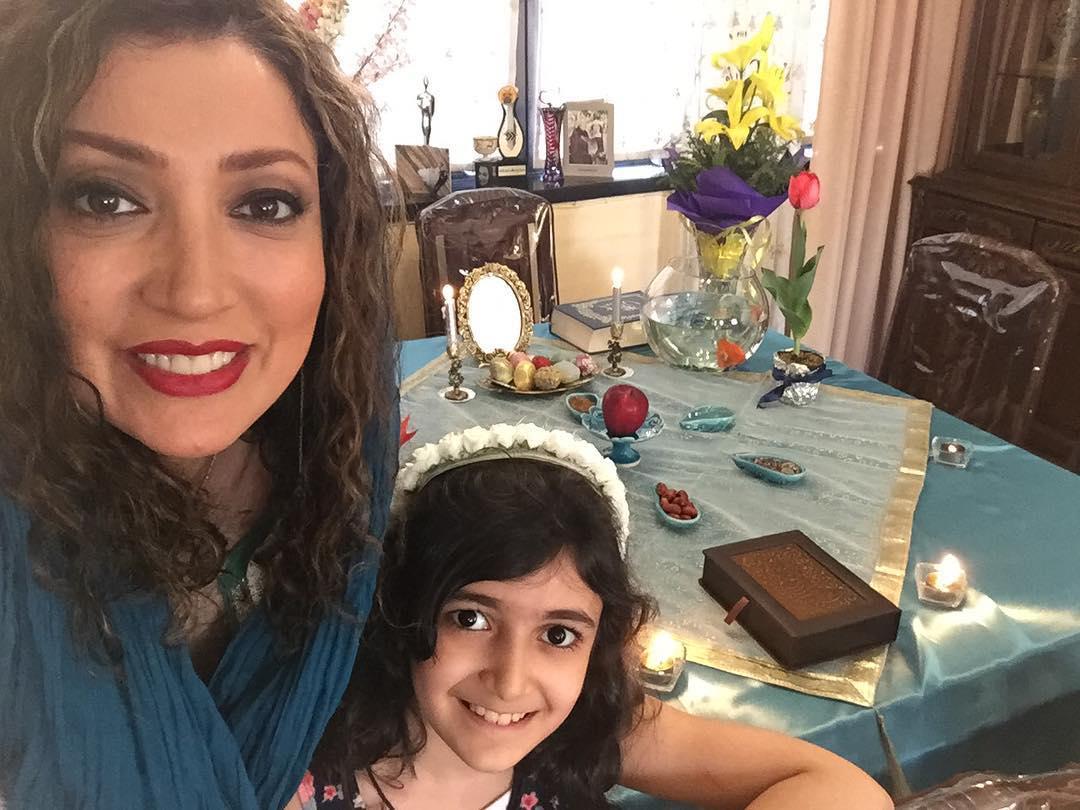 نگار عابدی و دخترش هفت سین نوروز 96