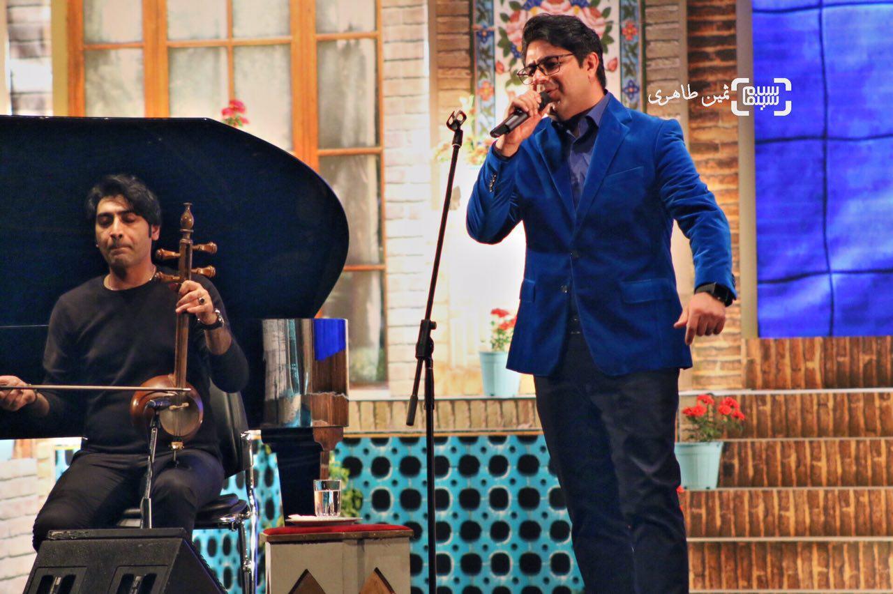 عکس حجت اشرف زاده در نکوداشت رامبد جوان در جشنواره سما