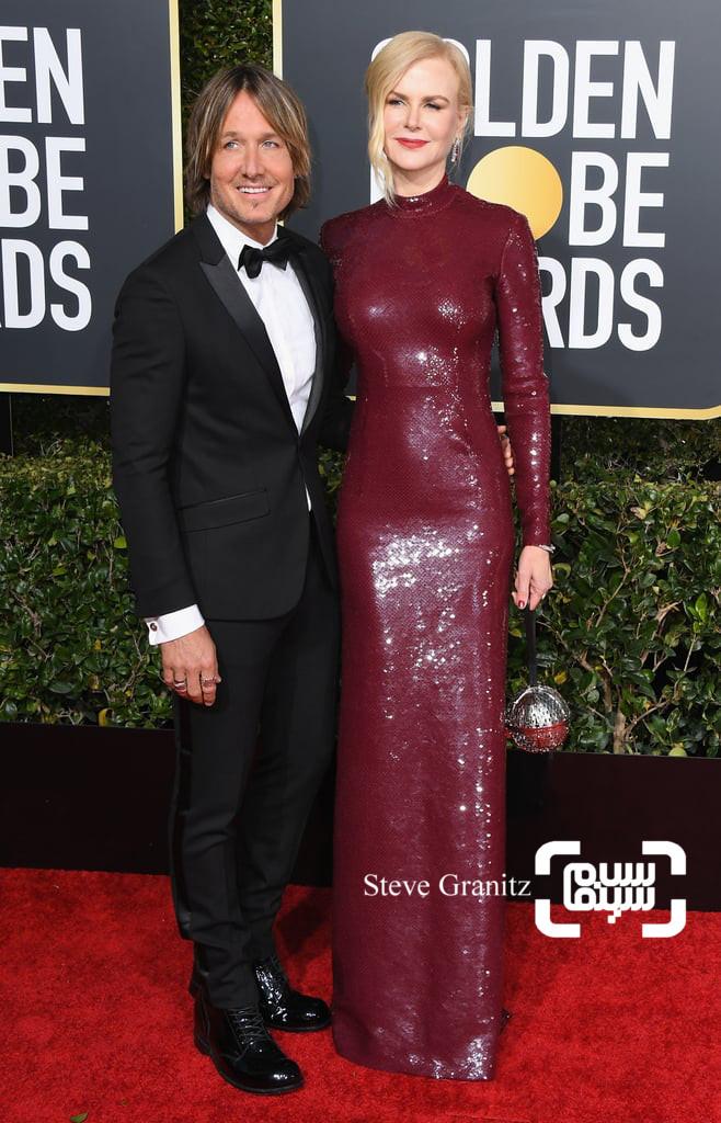 نیکول کیدمن گزارش تصویری از جوایز گلدن گلوب 2019