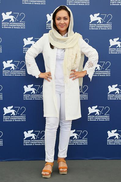 Niki karimi  نیکی کریمی در مراسم فتوکال فیلم «چهارشنبه 19 اردیبهشت» هفتاد و دومین جشنواره فیلم ونیز