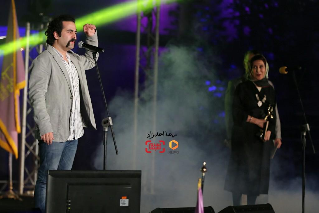 اجرای گروه پالت با همخوانی فاطمه معتمدآریا  در هجدهمین جشن خانه سینما