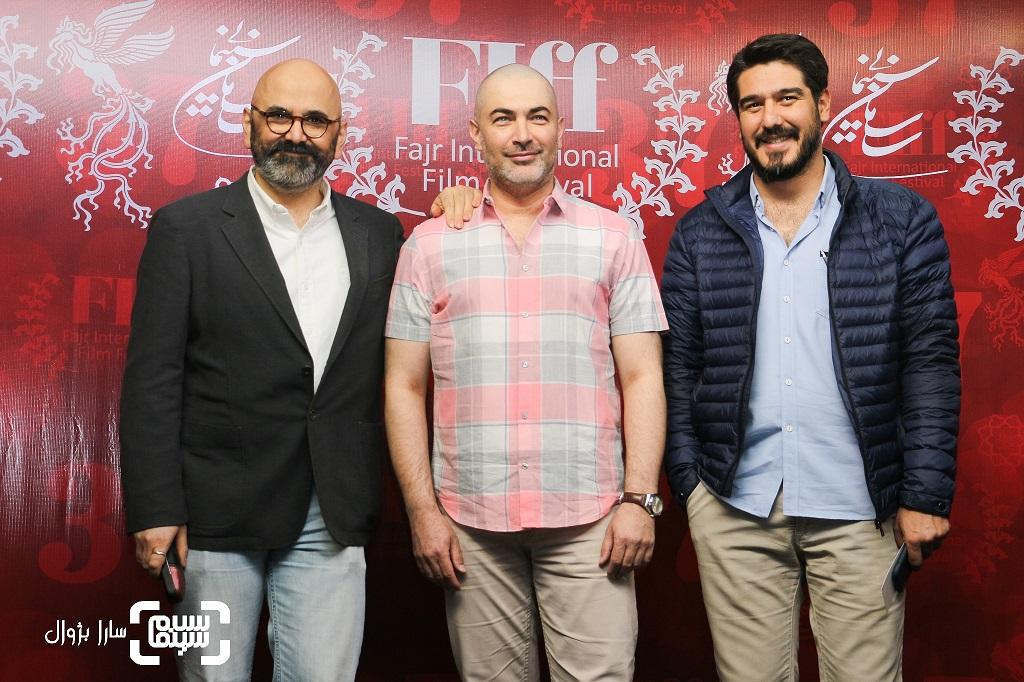 عکس پارسا پیروزفر،سهیل مستجابیانوحبیب رضایی در روز سوم سی و هفتمین جشنواره جهانی فیلم فجر