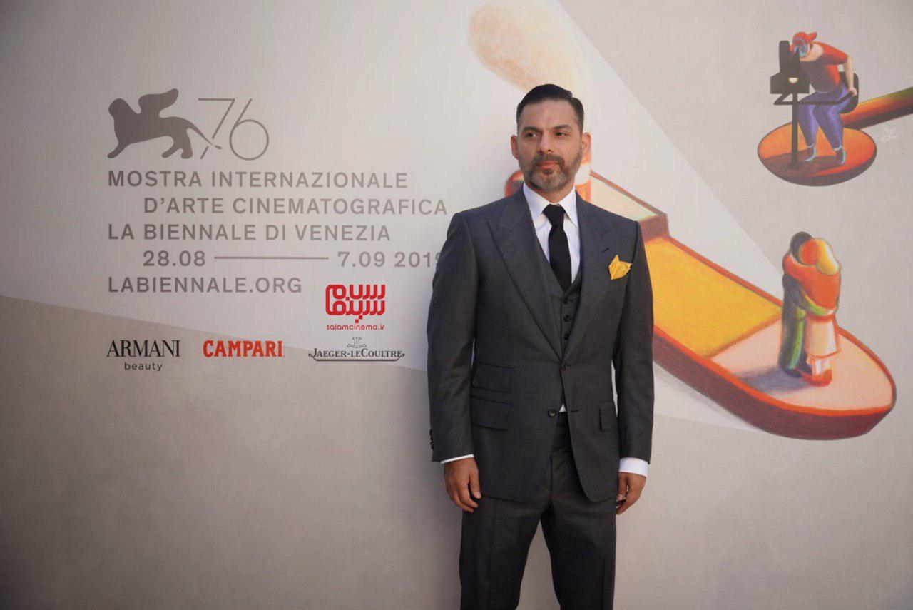 پیمان معادی در اکران فیلم «متری شیش و نیم» در جشنواره ونیز