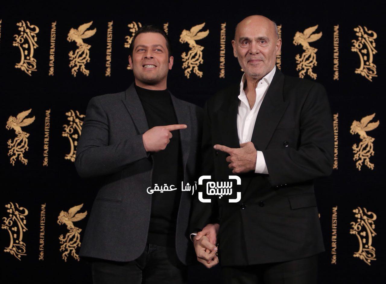 پژمان بازغی و جمشید هاشم پور در اکران فیلم «هایلایت» در سی و ششمین جشنواره فیلم فجر