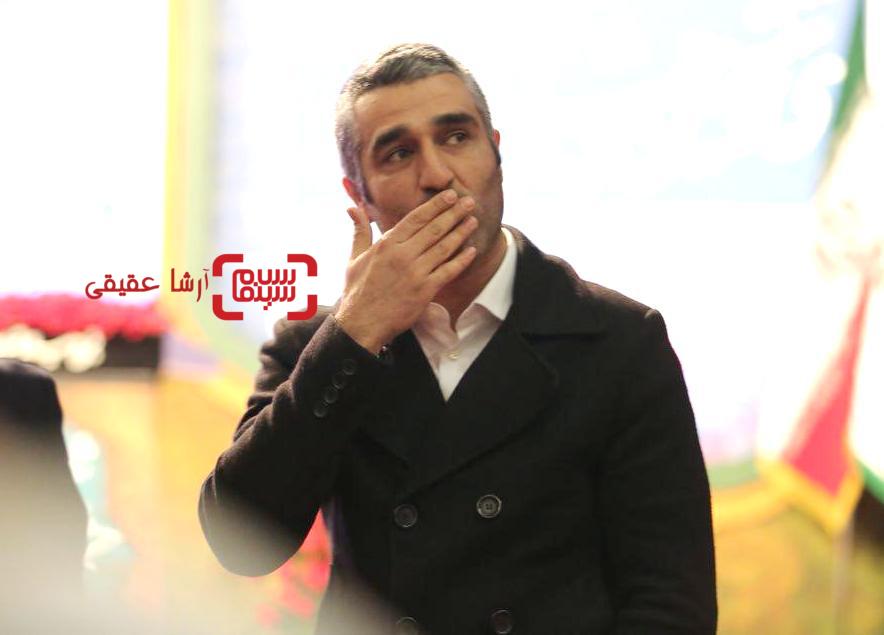 پژمان جمشیدی در اختتامیه سی و ششمین جشنواره فیلم فجر