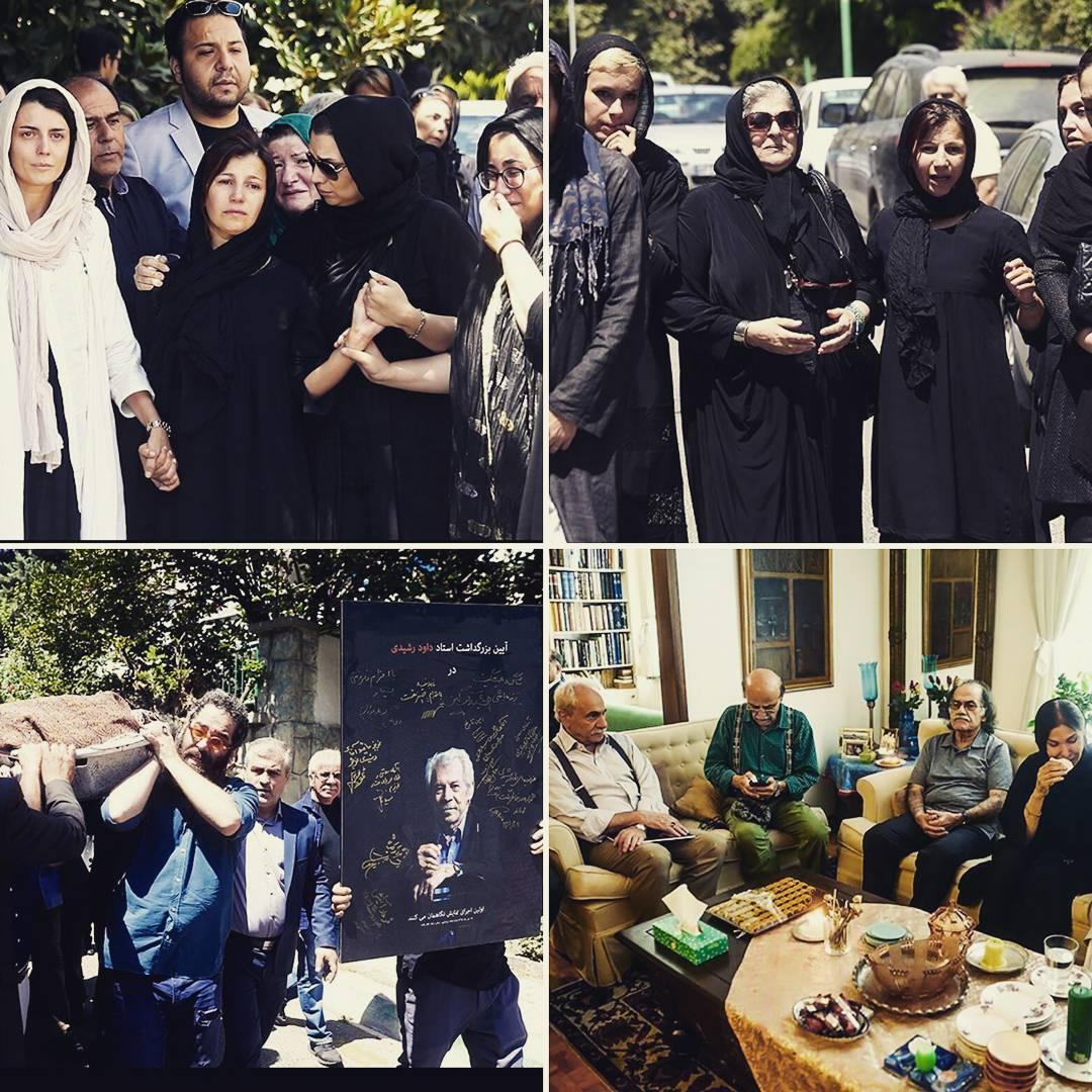 تصاویری از منزل و انتقال پیکر داوود رشیدی