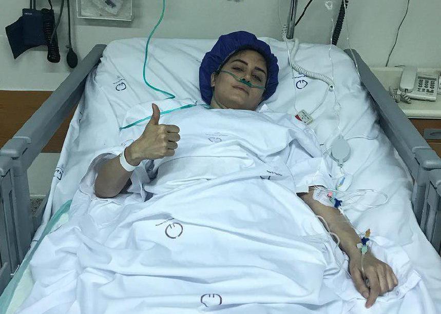 الناز شاکردوست روی تخت بیمارستان/ حادثه پیش آمده به خیر گذشت