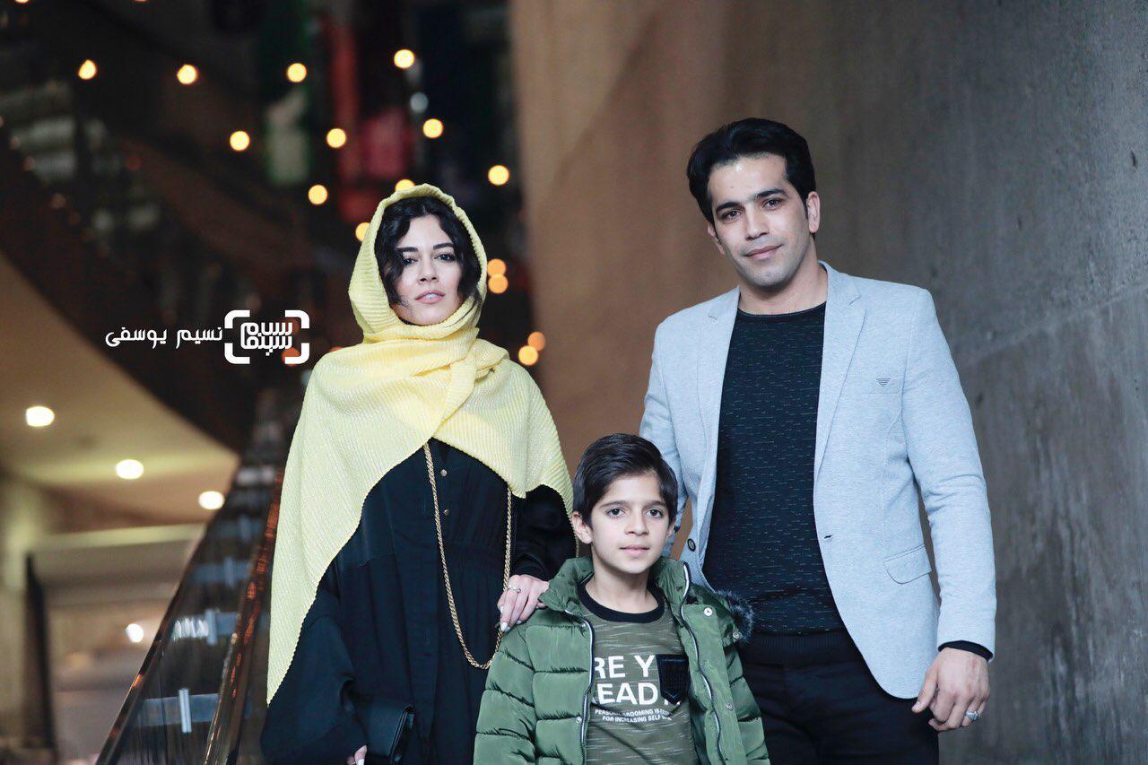 محسن تختی و ماهور الوند در فتوکال فیلم «غلامرضا تختی» در سی و هفتمین جشنواره فیلم فجر