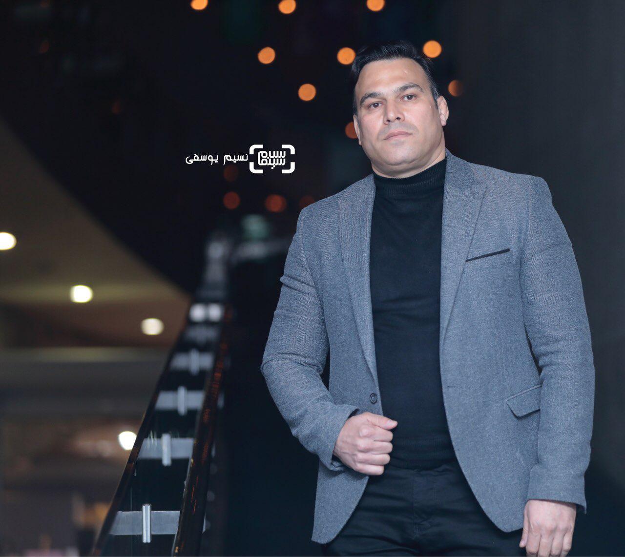 شاهرخ شهبازی در فتوکال فیلم «غلامرضا تختی» در سی و هفتمین جشنواره فیلم فجر