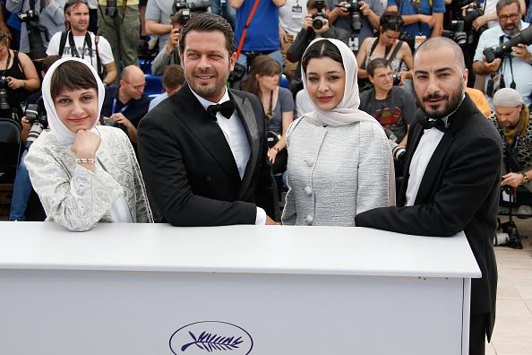 وید محمدزاده، ساره بیات، پژمان بازغی و آیدا پناهنده در فتوکال فیلم «ناهید» در شصت و هشتمین جشنواره فیلم کن