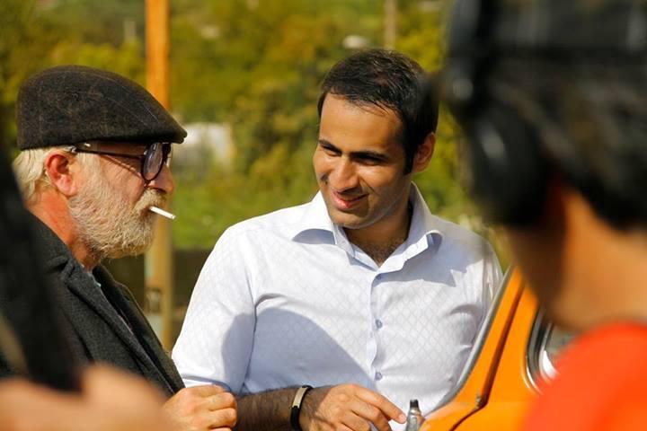 پشت صحنه فیلم انارهای نارس. مجیدرضا مصطفوی.مهران رجبی