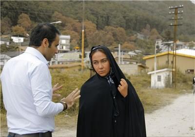 پشت صحنه فیلم انارهای نارس. مجیدرضا مصطفوی.آنا نعمتی