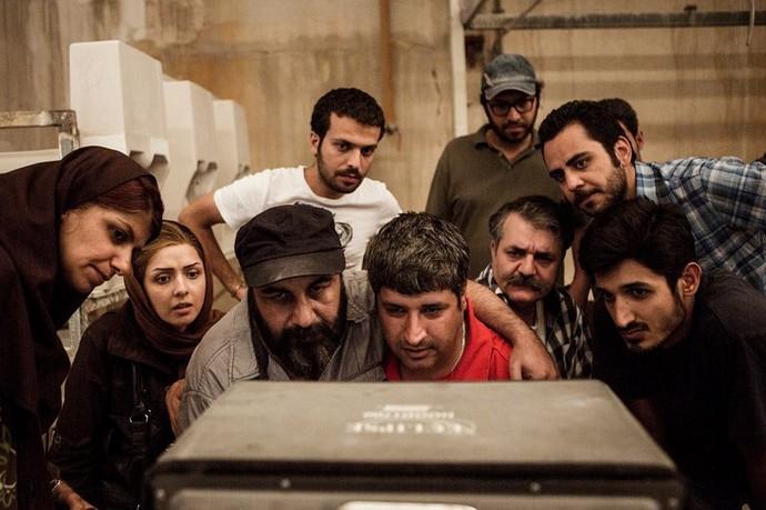 پشت صحنه فیلم استراحت مطلق با حضور عبدالرضا كاهاني، رضا عطاران و ترانه علیدوستی