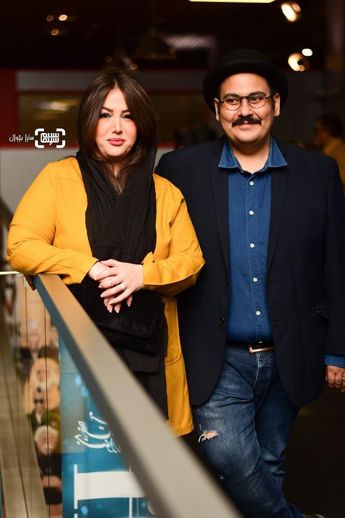 عکس رضا داوودنژاد و همسرش غزل بدیعی در روز دوم سی و هفتمین جشنواره جهانی فیلم فجر