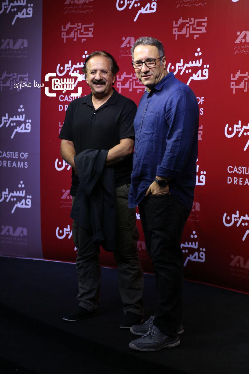عکس مجید مجیدیو رضا میرکریمی در اکران خصوصی فیلم «قصر شیرین»