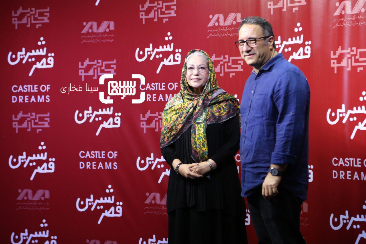 عکس رضا میرکریمی و رخشان بنی اعتماد در اکران خصوصی فیلم «قصر شیرین»