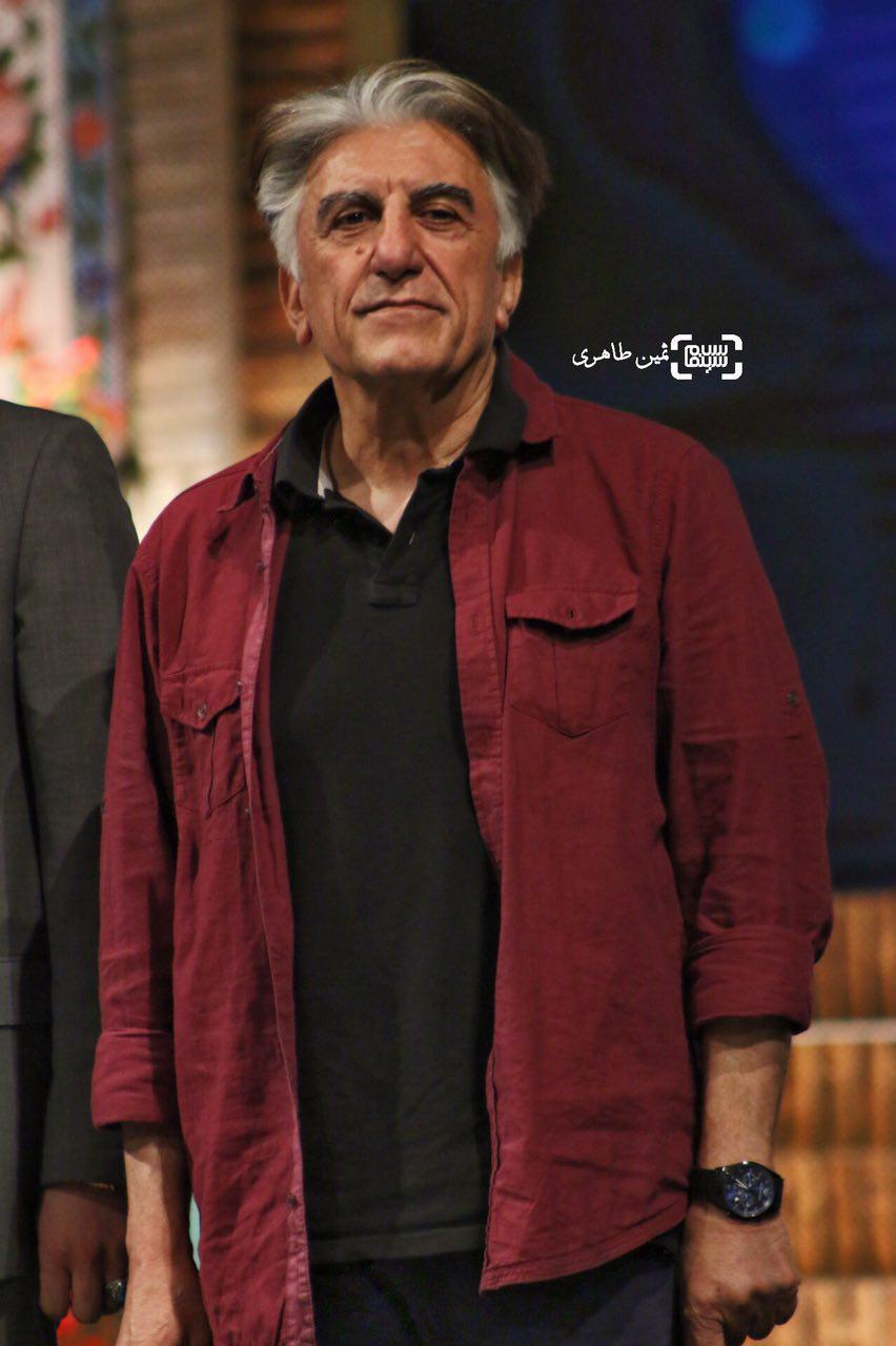 عکس رضا کیانیان در نکوداشت رامبد جوان در جشنواره سما
