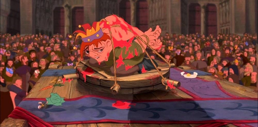 غمگین ترین صحنه های ماندگار انیمیشن های تاریخ سینما - گوژپشت نتردام (The Hunchback of Notre Dame)