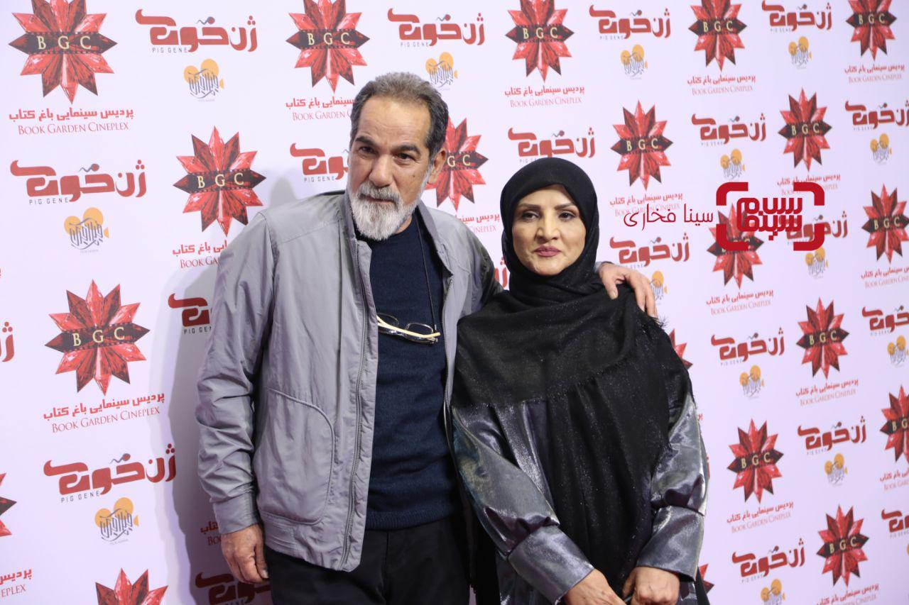 سعید سهیلیو همسرشدر اکران خصوصی فیلم «ژن خوک»