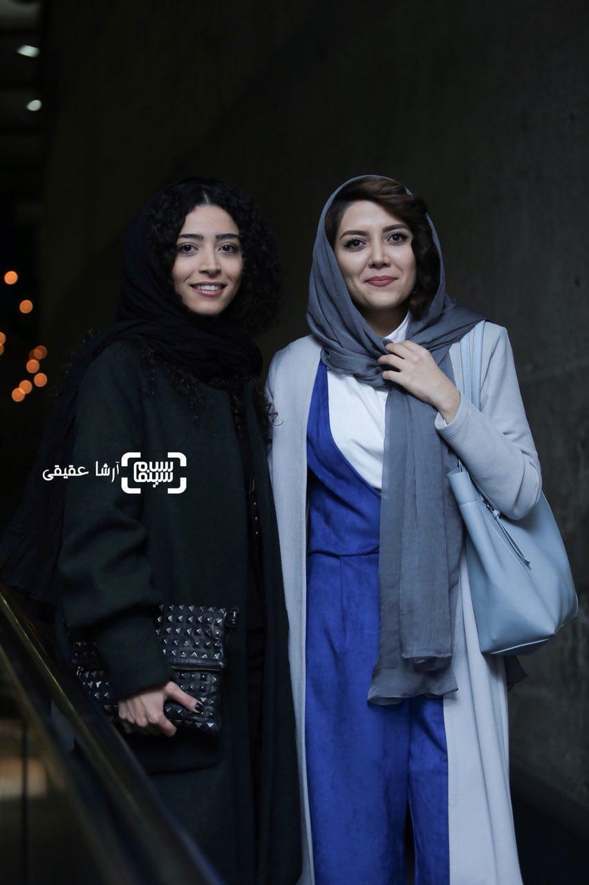 ندا عقیقی و ساغر قناعتدر اکران فیلم «جشن دلتنگی» در سی و ششمین جشنواره فیلم فجر