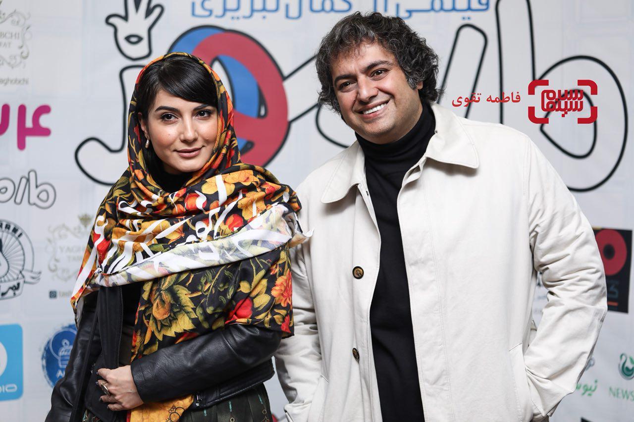 سمیرا حسنپورو همسرشسامان سالور اکران خصوصی فیلم «مارموز»