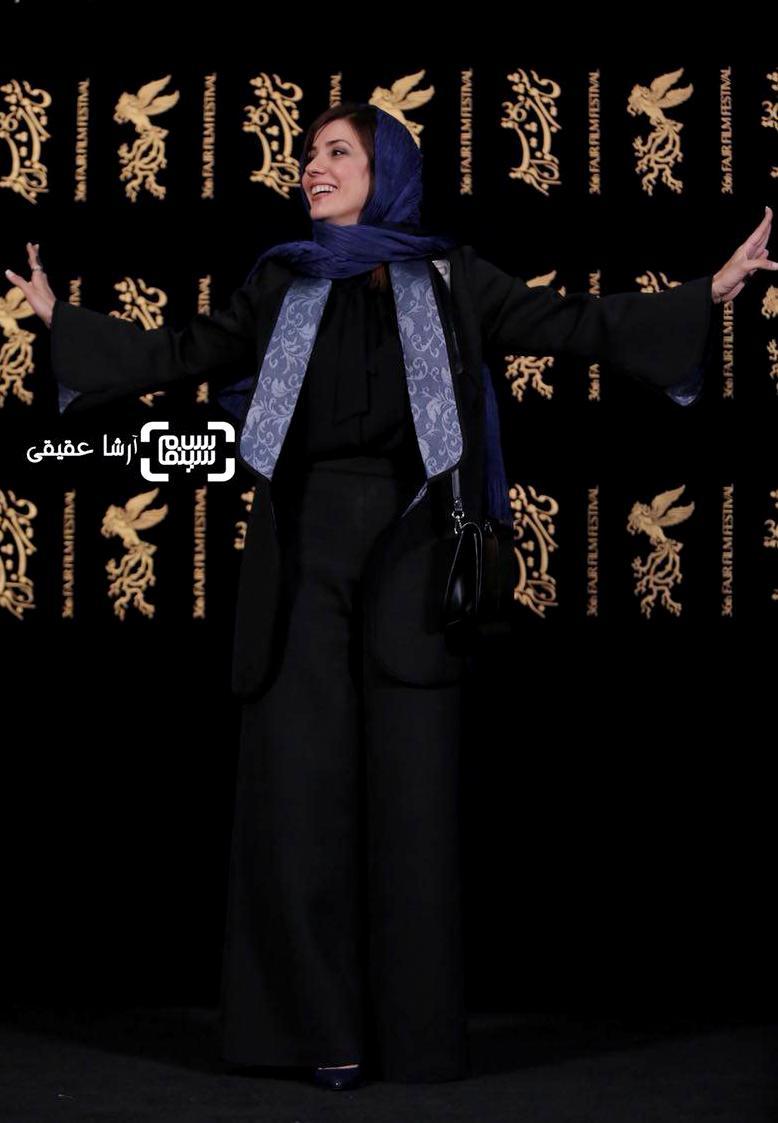سارا بهرامی در اکران فیلم «دارکوب» در کاخ رسانه جشنواره فیلم فجر36